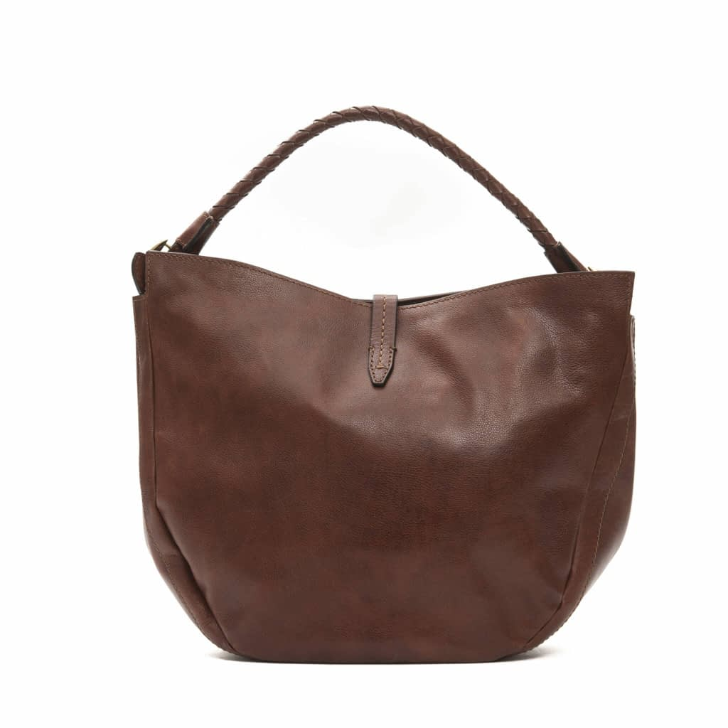 The Bridge Marrone Leather Shoulder Bag