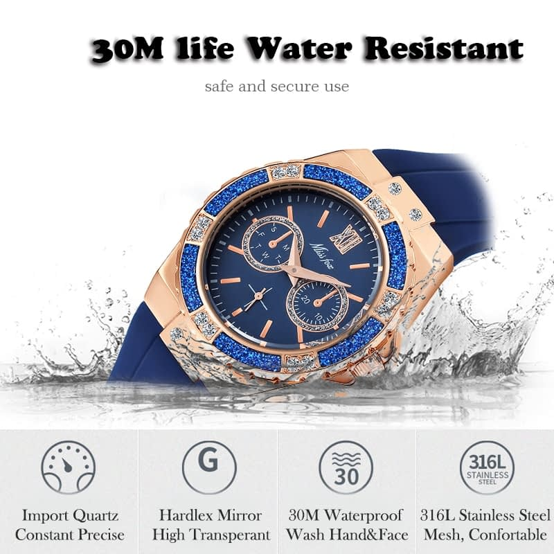 Analog Women's Watch with Chronograph