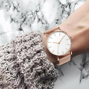 Rose Gold Minimalist Wristwatch